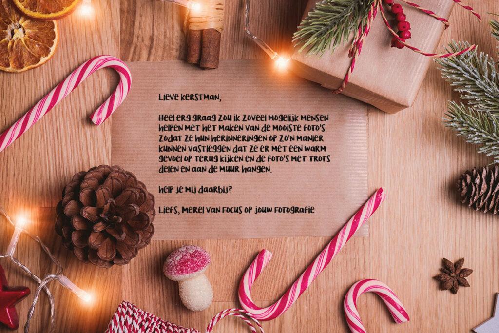 Je kunt een brief schrijven aan de kerstman en hier de wensen voor het komende jaar op zetten.