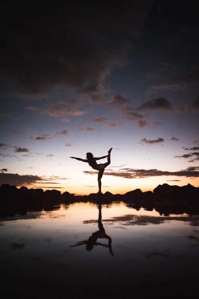 Reflecties werken ook prachtig bij silhouet foto's